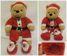 Winnie the Santa Pooh Sleeper Plush Christmas Stuffed Animal Toy Disney Store