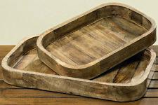 Deko-Tablett Tikko 2er Set Mango Holz Neu