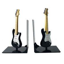 More details for black fender guitar bookends - music gift - gift for musician - music lover gift