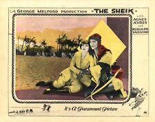 RUDOLPH VALENTINO / THE SHEIK (1921) Lobby card ft. iconic image w/Agnes Ayres