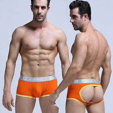 New Men Sexy Backless Gay Underwear Boxer Briefs Shorts Trunks Underpants Size M