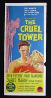 THE CRUEL TOWER 1956 Rare Australian daybill movie poster John Ericson Blanchard