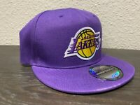 LOS ANGELES LAKERS NBA Official Logo Purple Mid-Crown Snapback Hat Cap NEW NWT