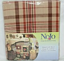 New NoJo MVP Fitted Crib or Toddler Sheet Brown Plaid