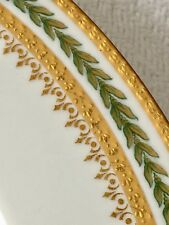 VINTAGE 4 LIMOGES HAVILAND CHINA GREEN / GOLD Leaf Salad PLATES~FRANCE 9 1/4""
