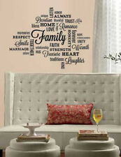 Quote: FAMILY wall stickers room home decor inspirational words 34 decals love