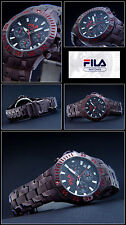 Luxury unisex-chrongraph FILA watch easy to Read Luminescent NEW Pay