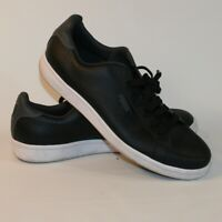 Puma Black Leather Lace Up Sports Athletic Running Sneaker Shoes Men's Size 9