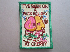 I've Been On A Pack Holiday At Cherry Girl Guides Woven Cloth Patch Badge