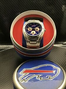 Buffalo Bills NFL Stainless Steel Watch by Fossil NEW (RARE)