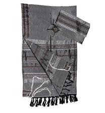 "Gray Gabrieli Silk Tallit Gray Shades Stripes 50""x80"""