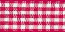 Berisfords 7391 20 M X 25 Mm Traditional Check Gingham Ribbon Red