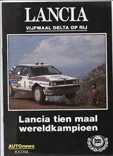 N°3491 / catalogue LANCIA vijfmaal delta op rij   palmares et résultats  1991