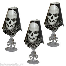 8 Gothic Skull Terror Halloween Party Paper Wine Glass Shades Covers Decorations