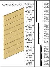 Dollhouse Miniatures 1/4 Inch Clapboard Siding 10pk/12 Inches Item #CLA75465