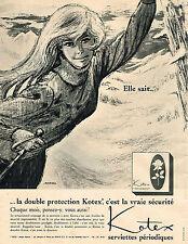 PUBLICITE ADVERTISING  1965   KOTEX  hygiène féminine