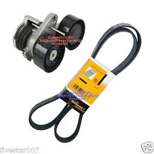 INA Tensioner kit + Alternator Serpentine Drive Belt for BMW 1-M 135i 335i 335xi
