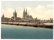 Pontoon Bridge Ii Cologne The Rhine A4 Photo Print