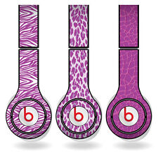 Removable Vinyl Decal - Beats Solo HD Skins - Purple Animal Print Set of 3