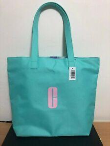 Macys Clinique Large Shopping Shoulder Travel Tote Bag Light Green