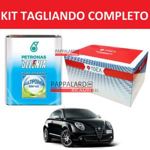 KIT FILTRI TAGLIANDO + OLIO SELENIA + FILTRO GPL ALFA ROMEO MITO 1.4 16V TURBO