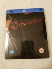 V for Vendetta STEELBOOK Blu Ray UK EMBOSSED SOLD OUT Limited Ed SEALED RARE