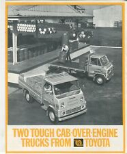 Two tough cab over-engine trucks from Toyota, 25 and Dyna brochure
