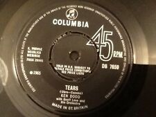 KEN DODD . TEARS . 1965.  Excellent vinyl single . U.K. NUMBER 1 Hit