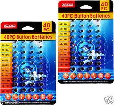 2x 40pcs of Assorted Batteries, Super Alkaline Set, Watch, Calculators, Cameras