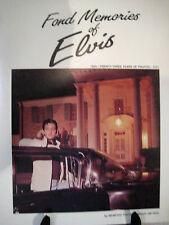 FOND MEMORIES OF ELVIS BOOK by Local Memphis Photographer Jim Reid 1954-1977