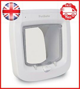 PetSafe Microchip Cat Flap, Easy Install, 4 Way Locking, Energy Efficient, -