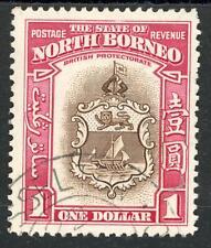 North Borneo 1939 $1 Brown & Carmine SG 315 Fine Used
