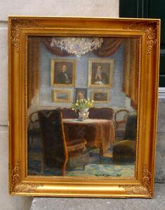 Gustaf Wolmar (1880)  Fine Impressionist Interior.  Dated 1911.  Must see.