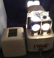 TDC STEREO VIVID MODEL 116 PROJECTOR FOR REALIST 3D SLIDES + CASE. GOOD!