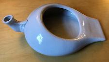 Vintage Porcelain Ceramic Chamber Pot Bed Pan Urinal Hospital antique Swan Neck