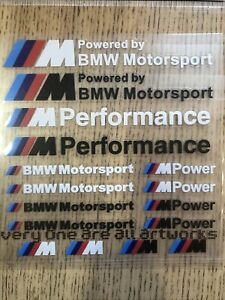 Kit 16 stickers BMW M PERFORMANCE autocollants Motorsport