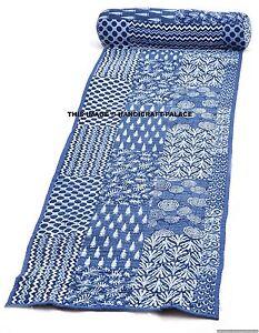 Indian Abstract Print Natural Meditation Yoga Pilates Cotton Mat Garden Throw