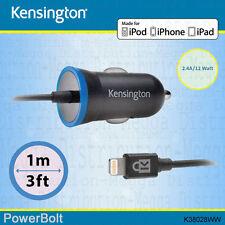 Kensington 2.4 Amp / 12w Rapid Lightning Car Charger for Apple iPod iPhone iPad