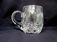 *Crystal Beer Mug by Julia Poland Vintage Cut Glass 24% Lead Cut Crystal