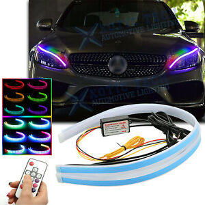 "24"" RGB LED Flexible Daytime Running Light Headlight For Mercedes Benz W205 C117"
