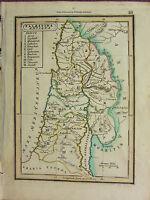 1832 Klein Alte Landkarte ~ Palaestina Antiqua Samaria Galilaea Judaea Peraea