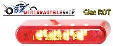 Mini LED Rücklicht Rückleuchte ( Rot ) ( 4cm ) E-geprüft