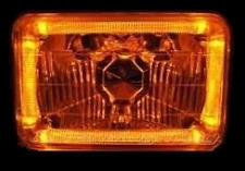 AMBER Halo H4 Headlamp Angel Eye Holden Jackaroo Rodeo TF KB Gemini TE Drover
