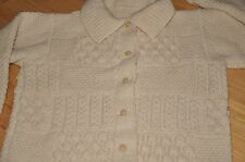 Hand Knitted Cardigan Sweater Large Multi Pattern