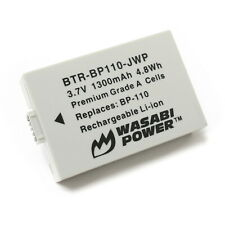 Wasabi Power Battery for Canon BP-110 (Fully Decoded)