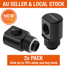 Barrowch Water Cooling 2 Pack G1/4 Thread 90 Degree Rotary Elbow Adapter Fitting