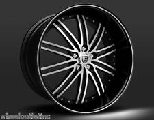 """22"""" Lexani LSS 8 Wheels Stagger Rims Tires Fit Challenger 300C Charger S550 SLS"""