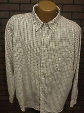 Vintage Mens L.L. Bean Button Front Shirt XL Made in USA Plaid Fall D7-7