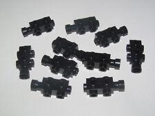 Lego ® Lot x10 Briques Réacteur Brick 1x2x2/3 Studs on Sides Black 4595