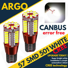 2x ERROR FREE CANBUS 501 57 SMD LED NUMBER PLATE BULBS WHITE XENON T10 W5W CREE